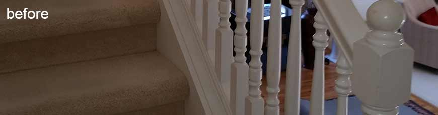 Quality custom interiors staircase railing contractor